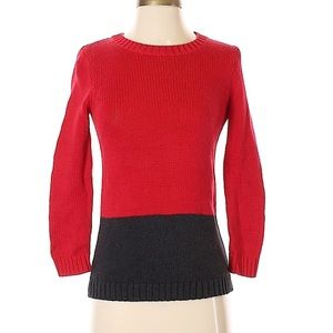 Ann Taylor LOFT Pullover Sweater black and red